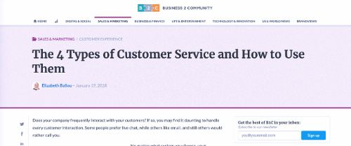 The 4 Types of Customer Service and How to Use Them