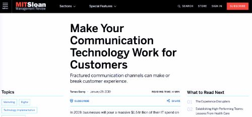Make Your Communication Technology Work for Customers