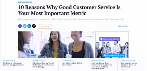 10 Reasons Why Good Customer Service Is Your Most Important Metric