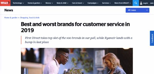 Best and worst brands for customer service in 2019