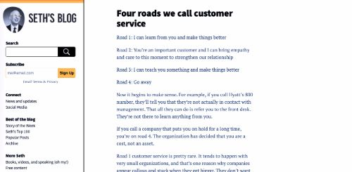 Four roads we call customer service