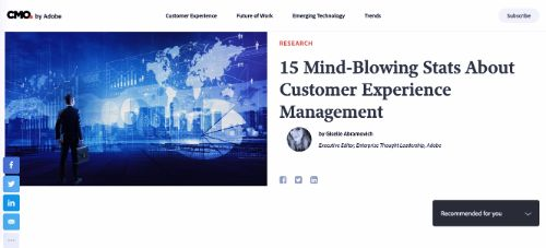 15 Mind-Blowing Stats About Customer Experience Management