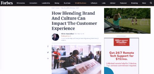 How Blending Brand And Culture Can Impact The Customer Experience