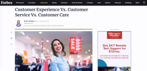 Customer Experience Vs. Customer Service Vs. Customer Care