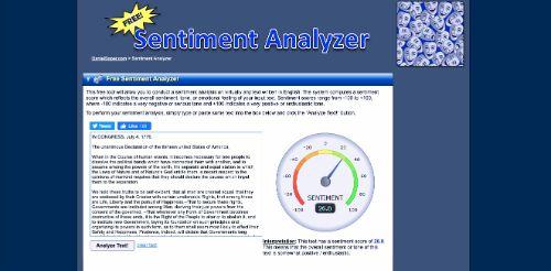 Sentiment Analyzer