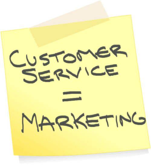 Customer Service Equals Marketing